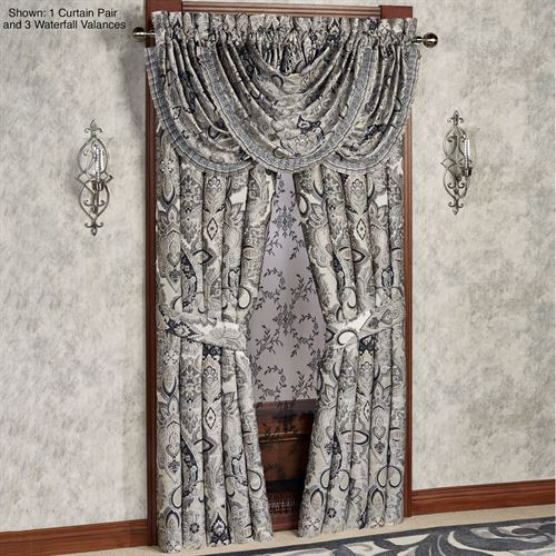 Guiliana Wide Tailored Curtain Pair Silver Gray 100 x 84