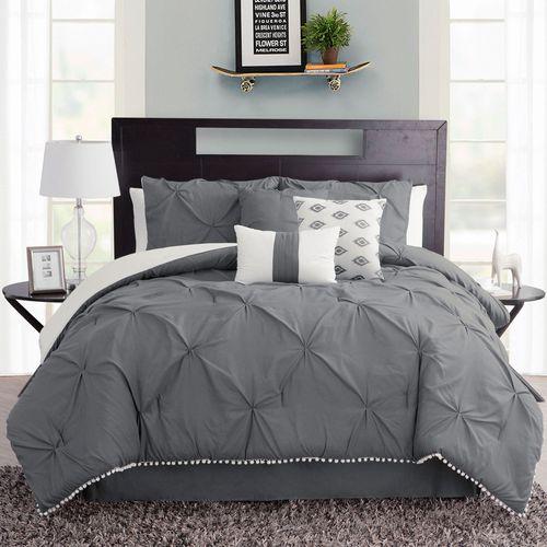 Callie Comforter Bed Set Dark Gray