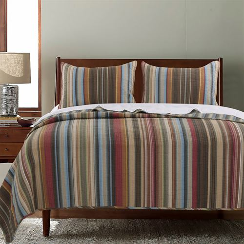 durango striped quilt set