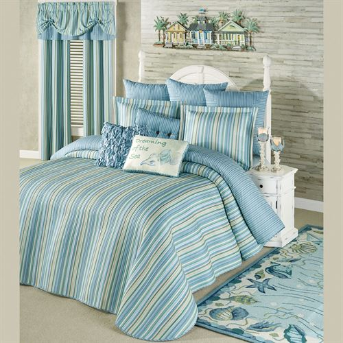 Clearwater Grande Bedspread Multi Cool