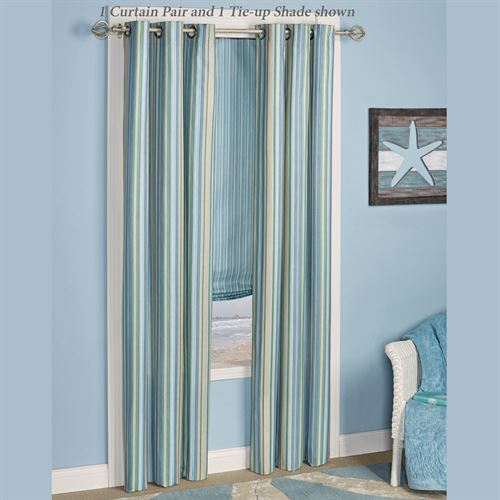Clearwater Grommet Curtain Pair Multi Cool 84 x 84