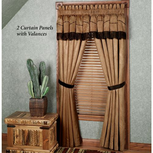 Team Roping Panel with Valance Camel 60 x 84