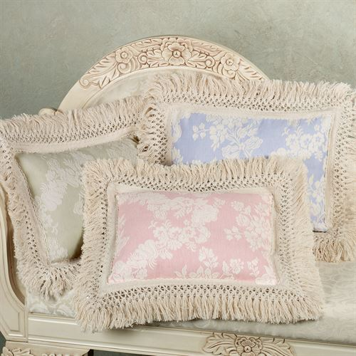 Mafalda Fringed Pillow  Rectangle