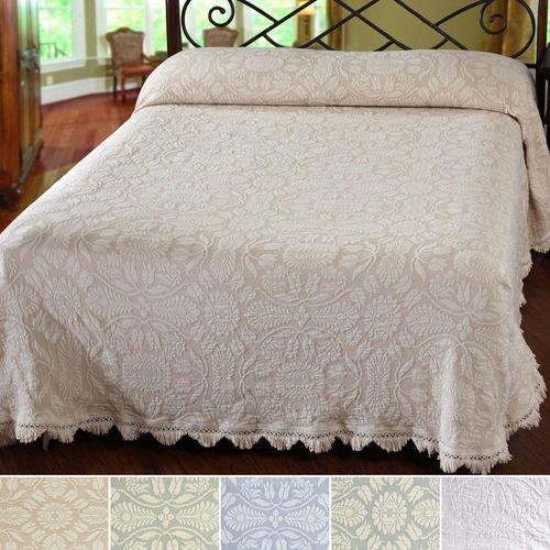 Colonial Rose Matelasse Bedspread