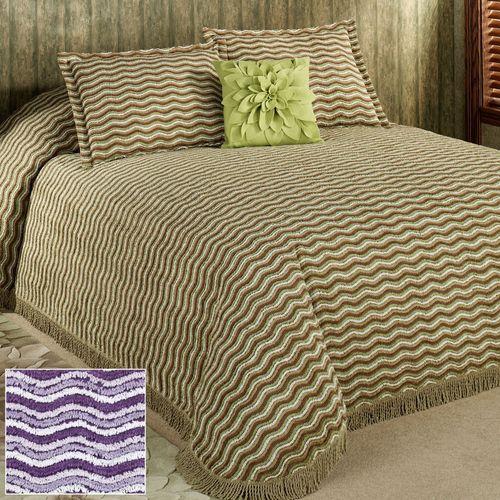 Wavy Chenille Bedspread