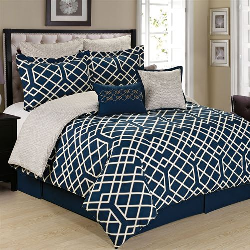 Demetri Comforter Bed Set Midnight