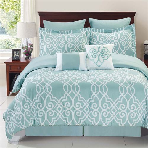 Dawson Comforter Bed Set Pastel Blue