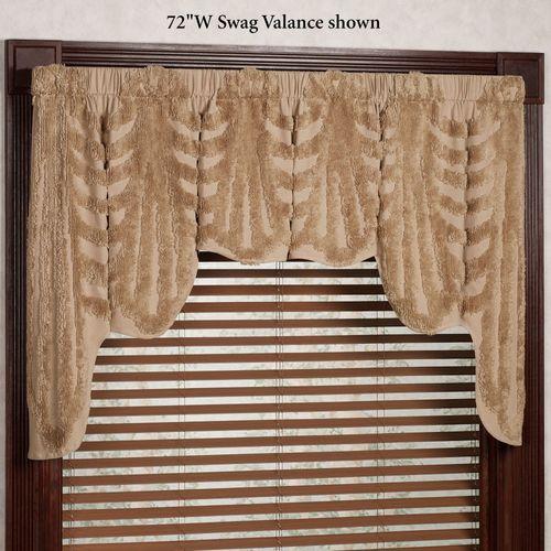 Cotillion Wide Swag Valance Tawny 72 x 34