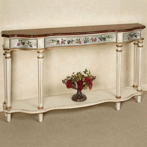 Uva Viti Buffet Table Antique Ivory