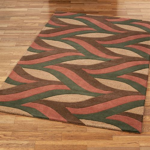 Divergence Rectangle Rug Russet
