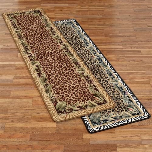Jungle Safari Animal Print Rug Runner