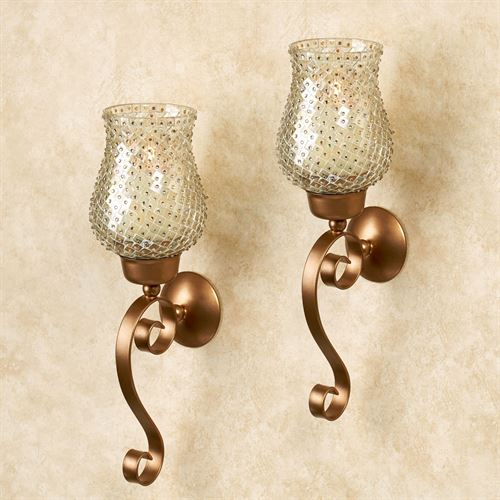 Armina Wall Sconce Gold Pair