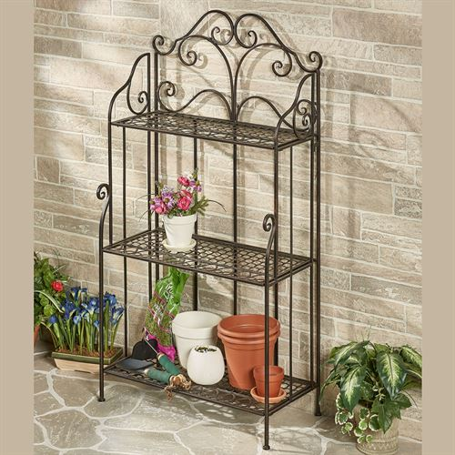 Fruitful Love Display Shelf Bronze Three Tier
