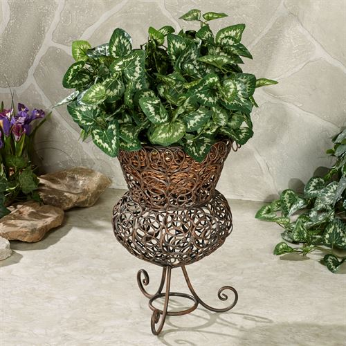 Addemson Metal Plant Stand Bronze
