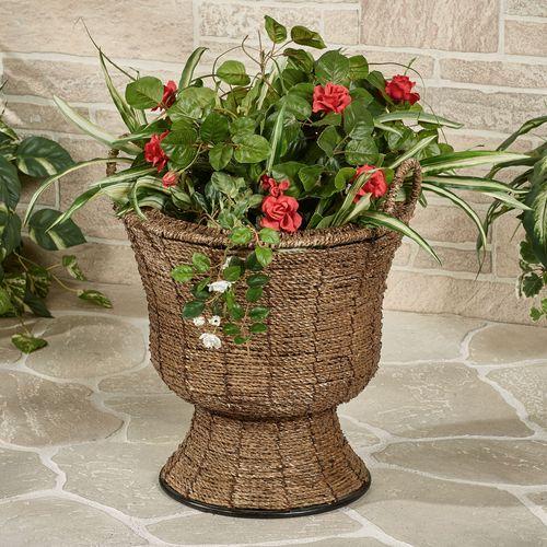Zostera Flower Pot Vase Brown