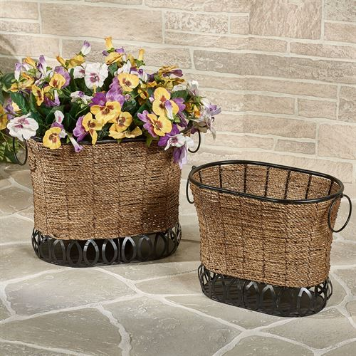 Zostera Storage Baskets Brown Set Of Two