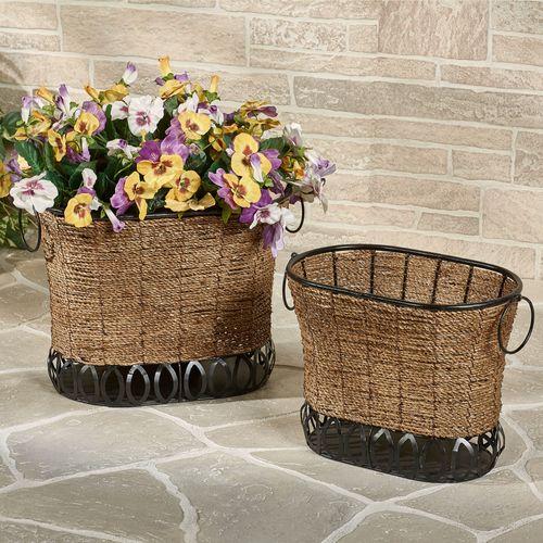 Zostera Storage Baskets Brown Set of Two