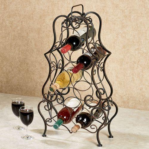 Pisa Metal Wine Rack Bronze