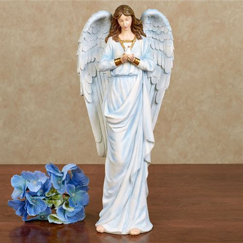 Serene Angel Table Sculpture Light Blue