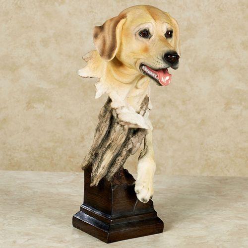 Thankful Pup Sculpture Golden Yellow