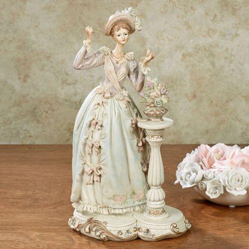 Pondering Pose Lady Figurine Multi Pastel