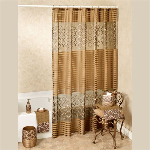 Spindle Shower Curtain Light Chocolate 70 x 72