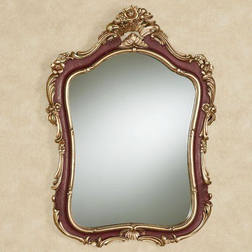 Langston Wall Mirror Burgundy