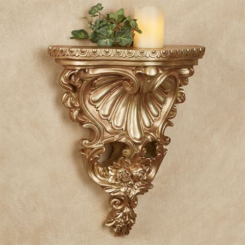 Joelle Wall Shelf Antique Gold