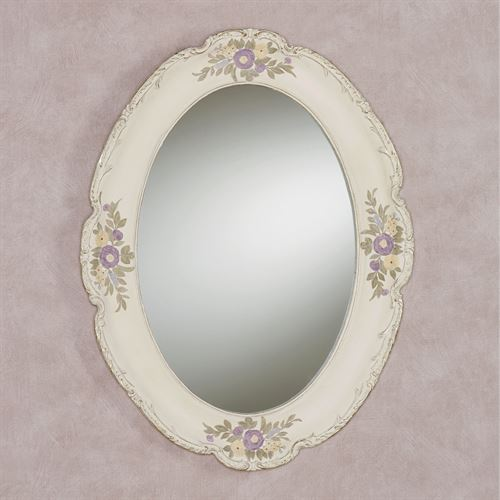 Enclaire Oval Wall Mirror Ivory