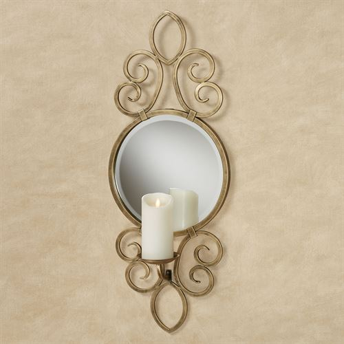 Babette Mirrored Wall Sconce Antique Gold