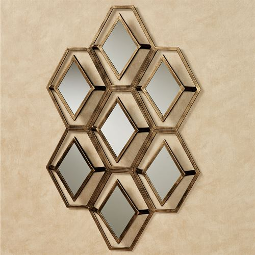 Granville Mirrored Wall Art Gold