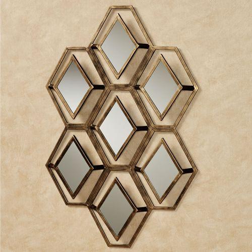 Granville Mirrored Wall Art Gold