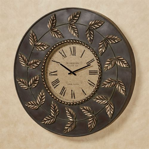 Dixon Leaf Wall Clock Bronze/Gold