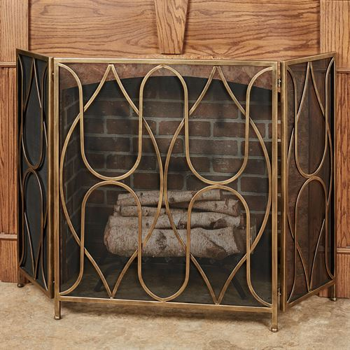 Reverie Fireplace Screen Gold