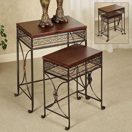 Charleston Nesting Tables Bronze Set of Two