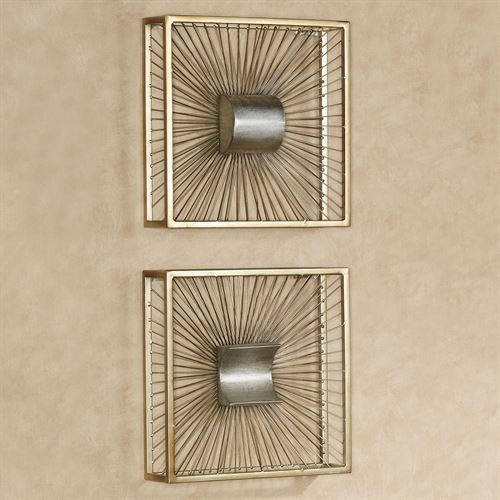 Thalia Wall Art Sculptures Gold Set of Two
