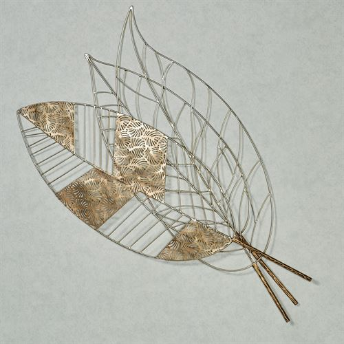Finnegan Leaves Wall Sculpture Multi Metallic
