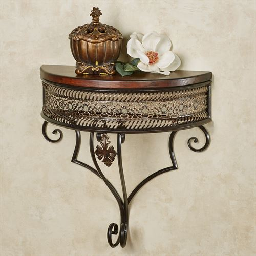 Charleston Wall Display Shelf Bronze