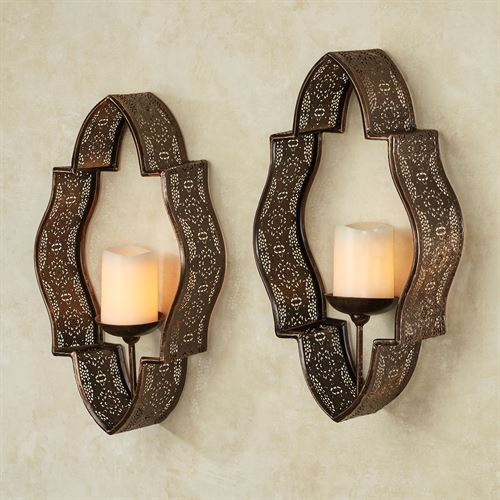 Molli Wall Sconces Bronze Pair