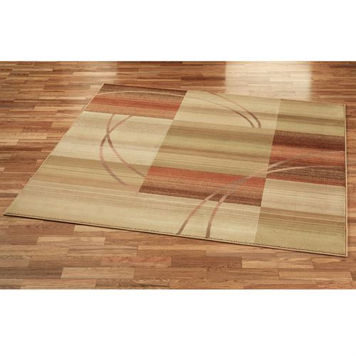 Whimsical Square Rug Antique Gold 8 Square