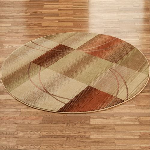 Whimsical Round Rug Antique Gold
