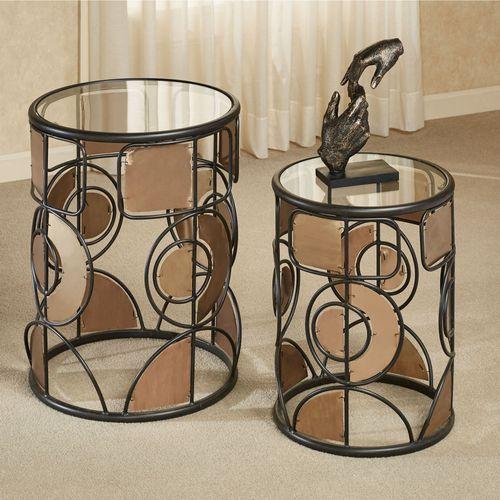 Creedence Nesting Tables Multi Metallic Set of Two