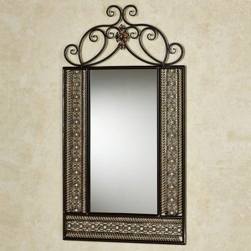 Charleston Scroll Wall Mirror Bronze