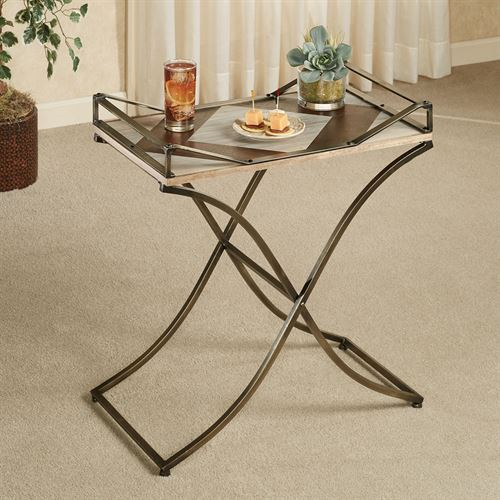Hiram Serving Tray Table Multi Earth