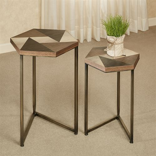 Hiram Nesting Tables Multi Earth Set of Two