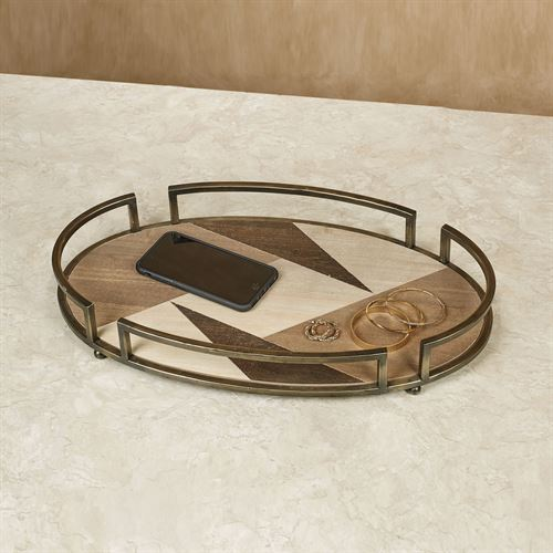 Hiram Decorative Tray Multi Earth