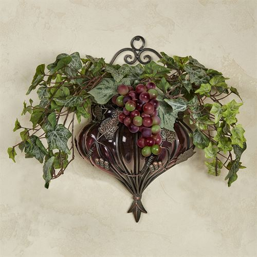 Tuscania Wall Vase Accent Multi Warm