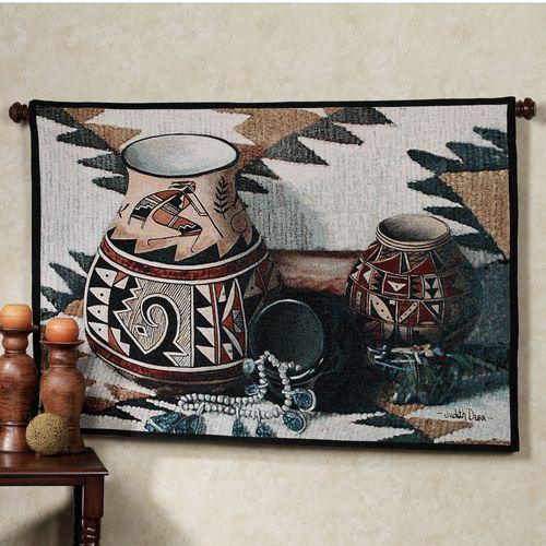 Kokopelli Pot Tapestry