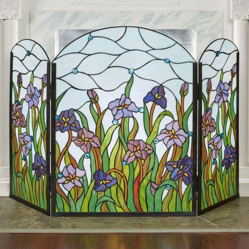 Spring Dreams Decorative Fireplace Screen Multi Bright