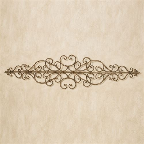 Maeve Scroll Wall Topper Antique Gold